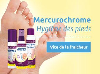 Hygiène des pieds Mercurochrome