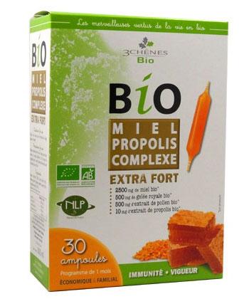 3 Chênes Bio Miel Propolis Complexe Extra-Fort