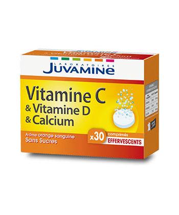 Juvamine Las vitaminas C, D y calcio