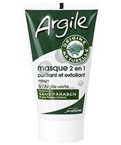 Juvaflorine Masque 2 en 1 � l'Argile Verte