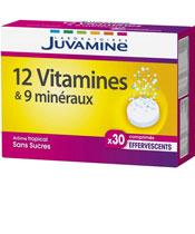 Juvamine 12 vitaminas y 9 minerales