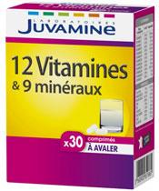 Juvamine 12 vitamine e 9 minerali