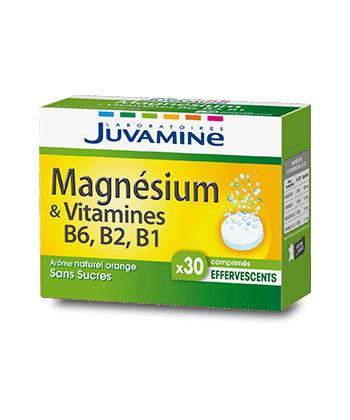 Juvamine Fizz Magnésium et Vitamines B6, B2, B1