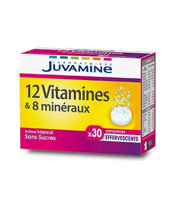 Juvamine Fizz 12 vitamines & 8 minéraux