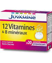 Juvamine Fizz 12 vitamines & 8 min�raux