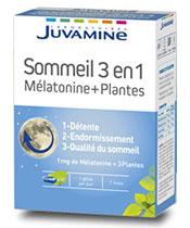 Juvamine sueño melatonina 3 en 1 y Plantas
