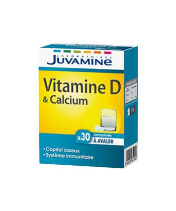Juvamine Vitamine D & Calcium - 30 comprimés