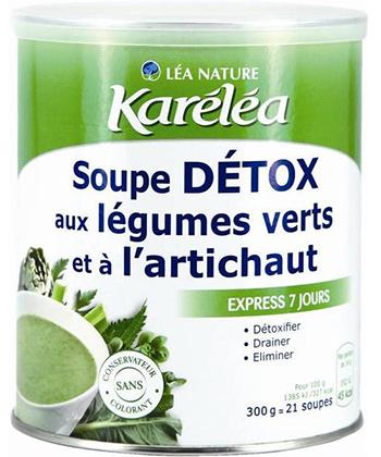 Karéléa Soupe Détox Légumes Verts et Artichauts