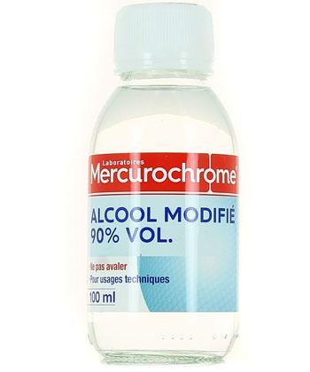 Mercurochrome 90 ° alcohol modificado