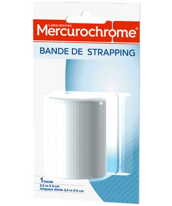 Mercurochrome Bande de Strapping