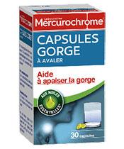 Mercurochrome cápsulas de garganta