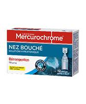 Mercurochrome nariz congestionada