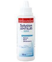 Mercurochrome Solution Lentilles Souples