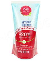 RAP Phyto Gel Jambes L�g�res Lot de 2 + lingette offerte