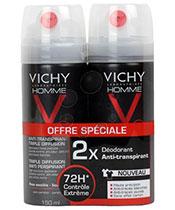 Vichy Homme Lot 2x D�odorant Vaporisateur