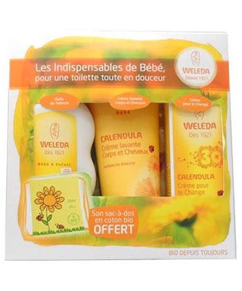 Weleda Coffret les Essentiels de Bébé + Sac à dos offert